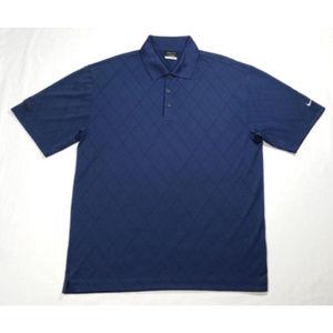 NIKE Golf Men Polo Shirt Short Sleeve Blue 1528E2